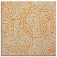rug #257381 | square orange natural rug