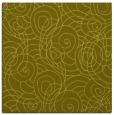 rug #257385 | square light-green circles rug