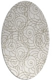 rug #257417 | oval white natural rug