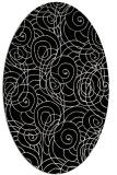 rug #257421   oval white circles rug