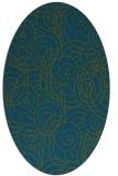rug #257477 | oval blue-green natural rug