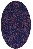 rug #257509 | oval pink natural rug