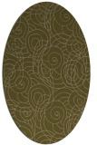 rug #257537 | oval mid-brown natural rug
