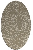 rug #257557 | oval white circles rug