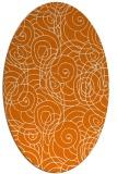 rug #257609   oval orange circles rug