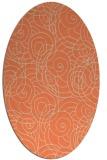 rug #257613 | oval orange circles rug