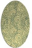 rug #257621   oval yellow circles rug