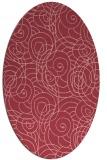 rug #257633 | oval pink circles rug
