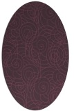 rug #257641 | oval purple natural rug