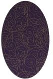 rug #257649 | oval purple circles rug