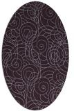 rug #257653 | oval purple circles rug