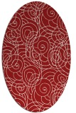rug #257665 | oval red circles rug