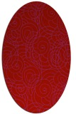 rug #257669 | oval red circles rug
