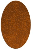 rug #257675 | oval circles rug