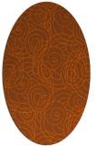 rug #257681 | oval red-orange circles rug
