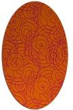 rug #257684 | oval circles rug