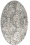 rug #257689 | oval white natural rug