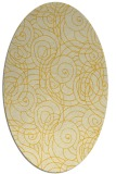rug #257705 | oval yellow natural rug