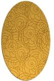 rug #257721 | oval yellow popular rug