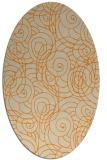 rug #257733 | oval orange circles rug