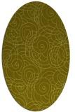 rug #257737 | oval light-green rug