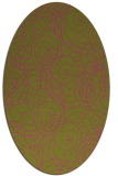 rug #257745 | oval light-green circles rug