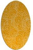 rug #257753 | oval light-orange rug