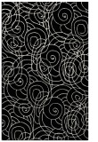 rug #257773    black circles rug