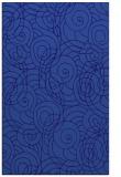 rug #257873 |  blue-violet circles rug