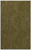 rug #257889 |  brown circles rug