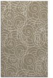 rug #257909 |  mid-brown circles rug