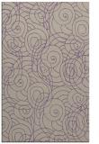 rug #257949 |  purple circles rug