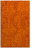 rug #257957 |  red-orange circles rug