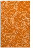 rug #257961 |  orange circles rug