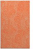 rug #257965 |  orange circles rug