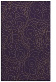 rug #258001 |  mid-brown circles rug