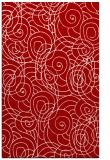 rug #258009 |  red circles rug