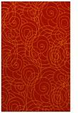 rug #258013 |  orange circles rug