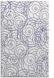 rug #258049 |  blue circles rug