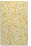 rug #258057 |  yellow circles rug