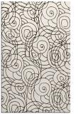 rug #258065 |  brown circles rug