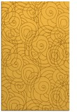 rug #258073 |  yellow circles rug