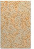 rug #258085 |  orange circles rug