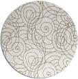 rug #258121 | round beige circles rug