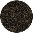rug #258141 | round black natural rug