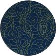 rug #258157 | round green circles rug
