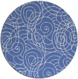 rug #258161 | round blue circles rug