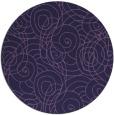 rug #258217   round purple circles rug