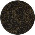 rug #258237   round black circles rug