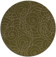 rug #258241 | round mid-brown circles rug